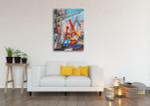 Large Buildings Art Print on the wall