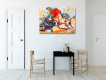 Matador on a Horse Art Print on the wall