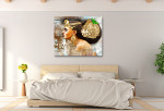 Egyptian Woman Canvas Print on the wall