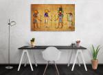 Four Egyptian Gods Canvas Print on the wall
