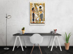 Old Egyptian Papyrus Wall Art Print on the wall