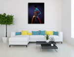 Body in Neon Art Print on the wall