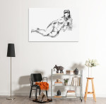 Charcoal Body Art Print on the wall