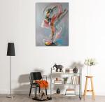 Colourful Splash Art Print on the wall