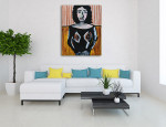 Figurative Woman Art Print on the wall