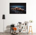 Girl on the Rain Art Print on the wall