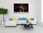 Gymnast in Motion Art Print on the wall
