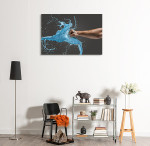 Man vs Liquid Art Print on the wall