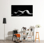Young Silhouette Art Print on the wall