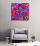 Abstract Girlish Graffiti Art Print on the wall