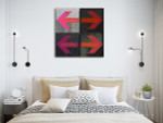 Arrows Grunge Art Print on the wall