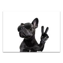Posing French Bulldog Canvas Art Print