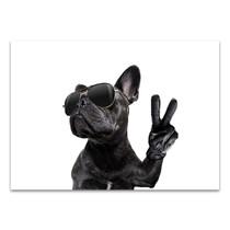 Posing French Bulldog Canvas Art Print