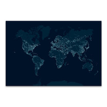 Communications Network Map Canvas Print