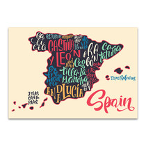 Map Of Spain Wall Art Print