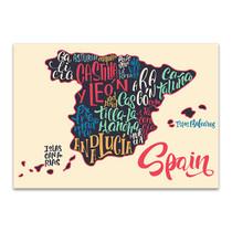Map Of Spain Wall Art Print