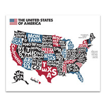 United States of America Map Wall Art Print
