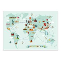 World Travel Map Wall Print