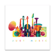 Colourful Music Canvas Print