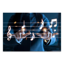 Hands Playing Canvas Art Print