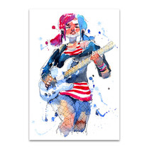 Rock Star Girl Canvas Print