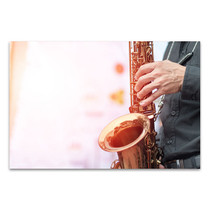 Saxophonist Player Canvas Art Print