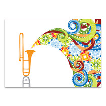 Trombone In Abstract Canvas Print