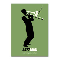Trombone Player Wall Art Print