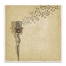 Vintage Microphone Wall Print