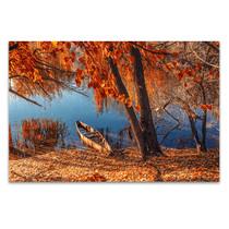 Autumn River Ashore Art Print