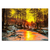 Cold Sunset Wall Art Print