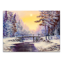 Cool Winter Scene Wall Print