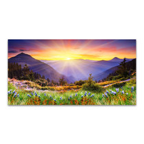 Majestic Sunset in Mountains Wall Print