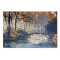 Old Bridge In Autumn Wall Print