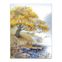 Old Yellowed Tree Art Print