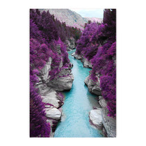 Purple Pine Forest Canvas Print