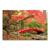 Red Bridge Wall Art Print