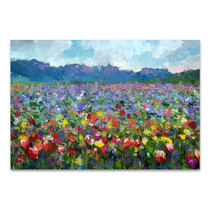 Summer Rural Landscape Canvas Art Print