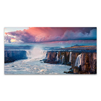 Sunrise Scene Waterfall Canvas Print