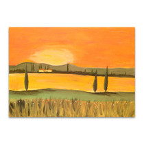 Sunset In Tuscany Canvas Print