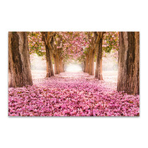 Tunnel of Pink Flower Art Print