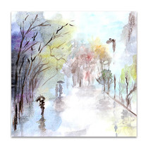 Autumn Rain Art Print
