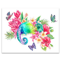 Rainbow Chameleon Canvas Print