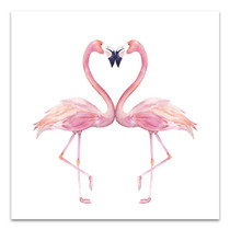 Watercolour Flamingos Canvas Art Print