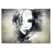 Woman Profile Wall Print