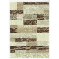 Beige Geometric Patterned Rug