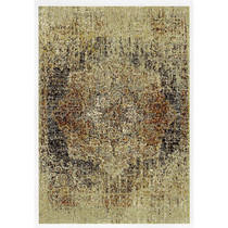 Brown Flower Art Rug
