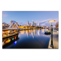 Melbourne Canvas Print Yarra River at Night