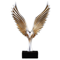 Poly Resin Abstract Wings Statue
