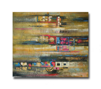 Indistinct | Abstract Wall Canvas Prints & Hand Paintings for Office